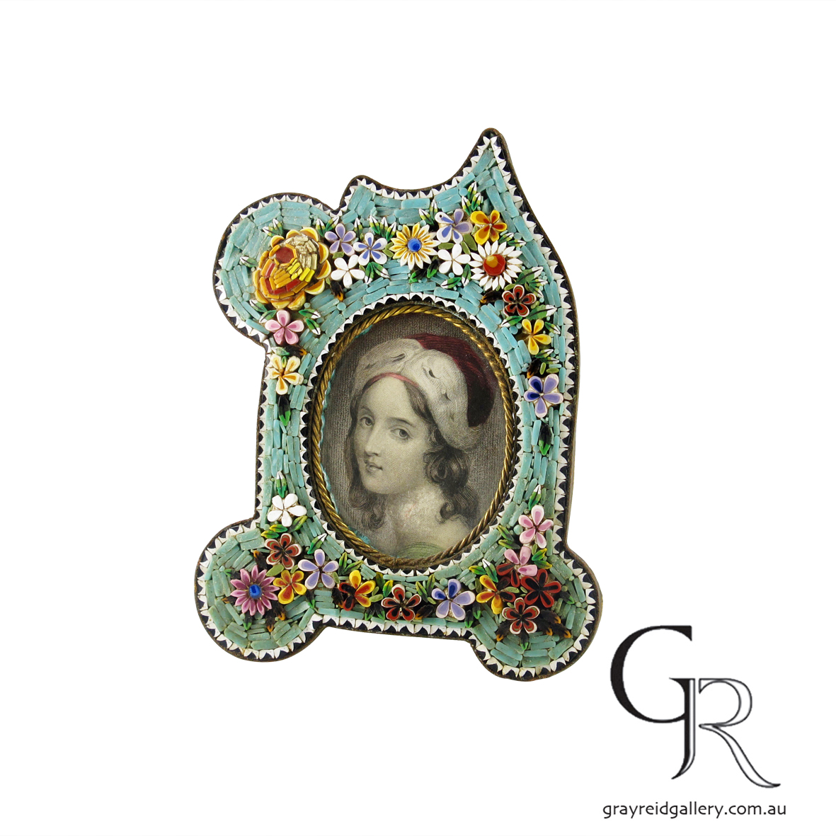 antiques and collectables melbourne micro mosaic picture frame Gray Reid Gallery 1.jpg