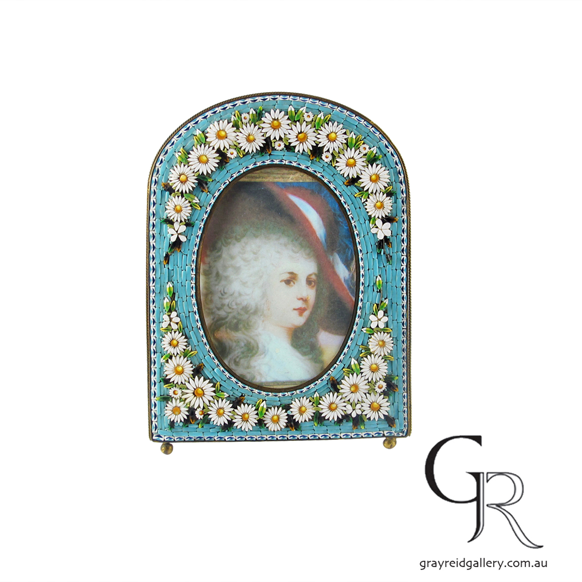 antiques and collectables melbourne micro mosaic picture frame Gray Reid Gallery 3.jpg