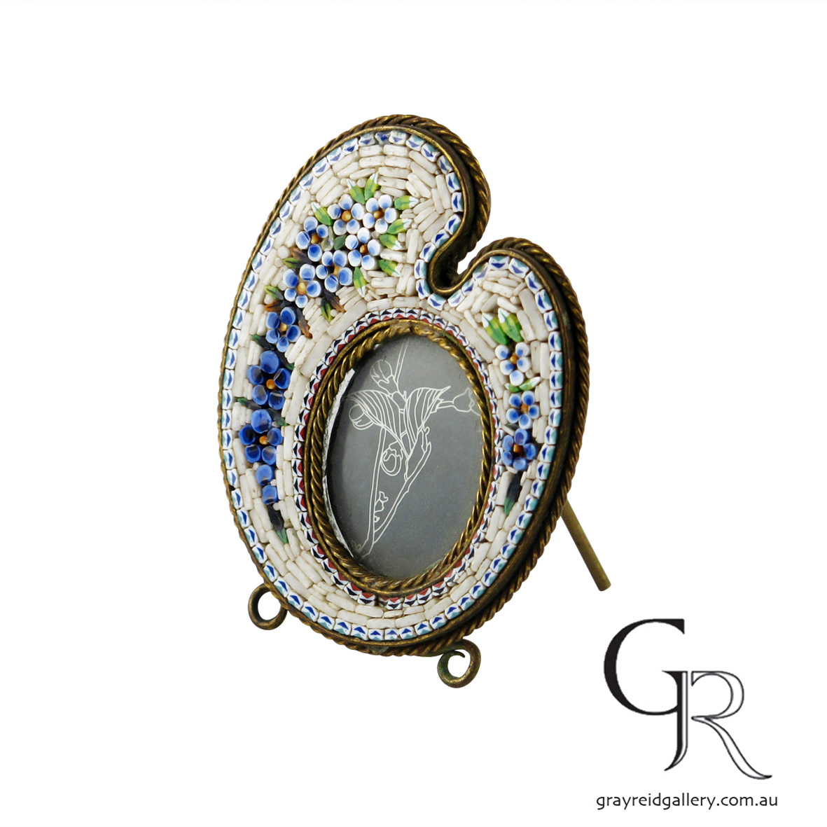 antiques and collectables melbourne micro mosaic picture frame Gray Reid Gallery 12.jpg