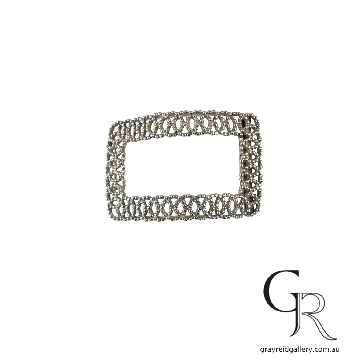 antiques and collectables melbourne sterling silver belt buckle Gray Reid Gallery 2.jpg