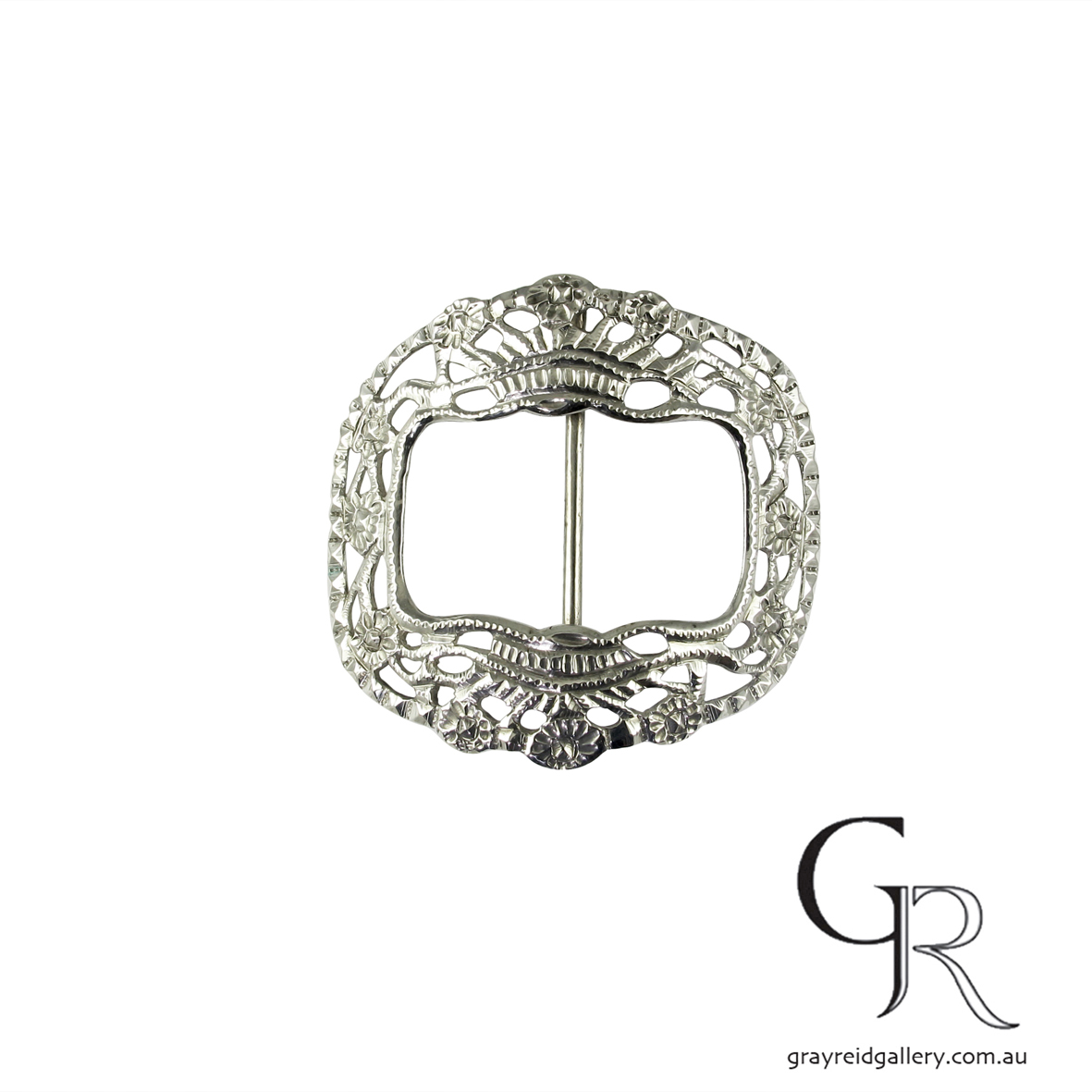 antiques and collectables melbourne sterling silver belt buckle Gray Reid Gallery 3.jpg