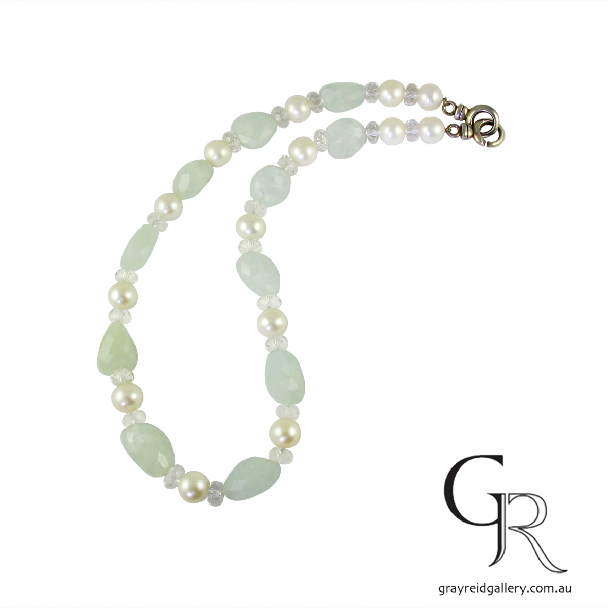 Aquamarine & Fresh Water Pearl Beads