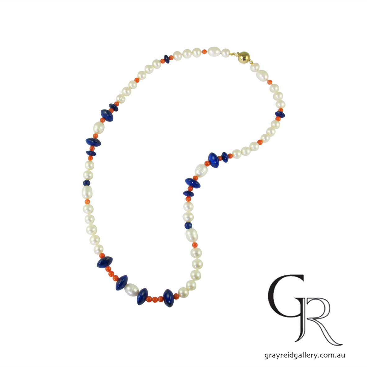 lapis and pearl beads Melbourne Gray Reid Gallery42.jpg