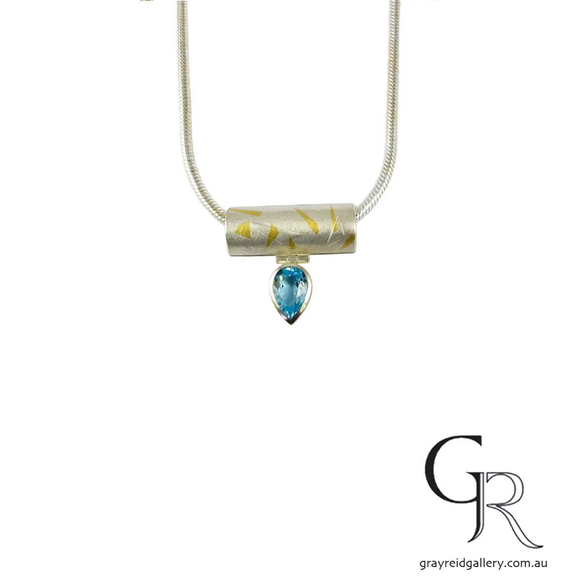 Blue Topaz Necklace by Monica Szwaja