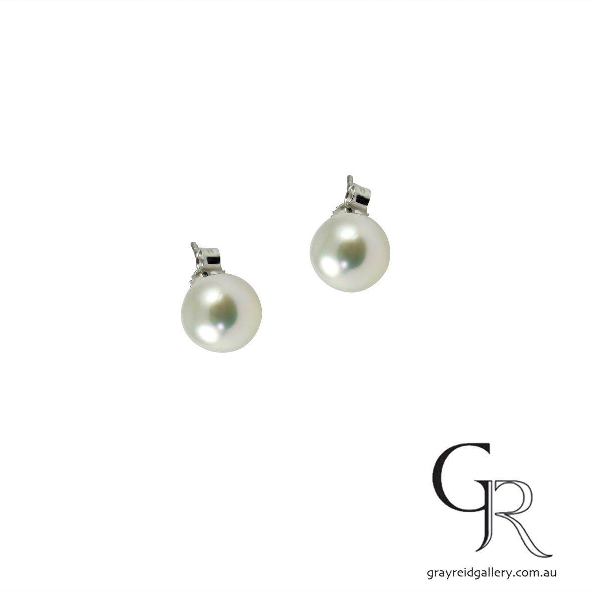 South Sea Pearl Studs With White Gold Posts