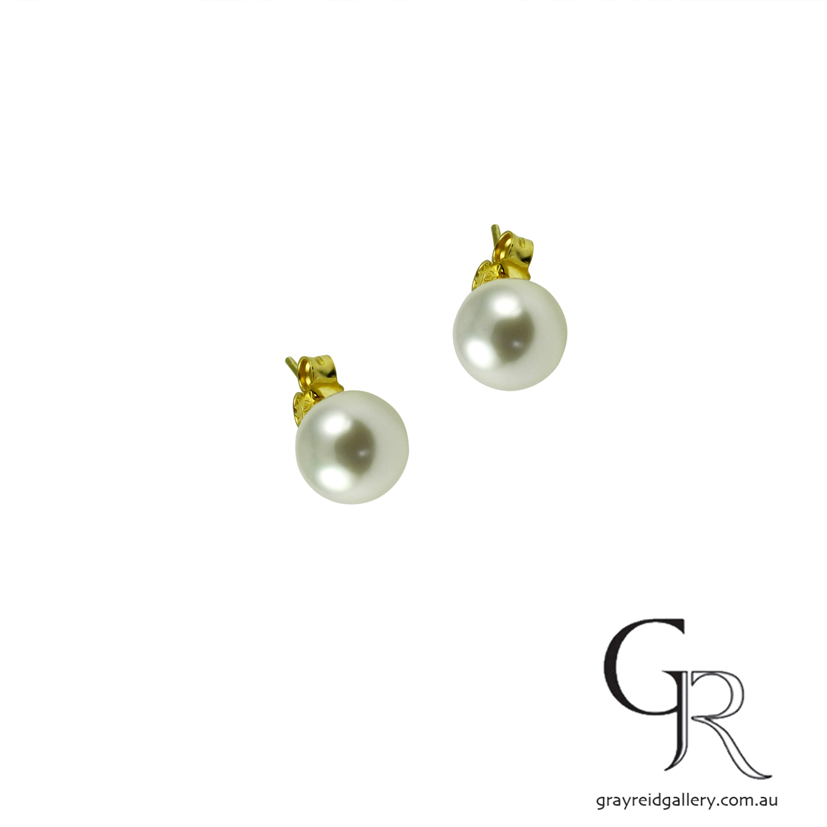 South Sea Pearl Earrings With Yellow Gold Posts