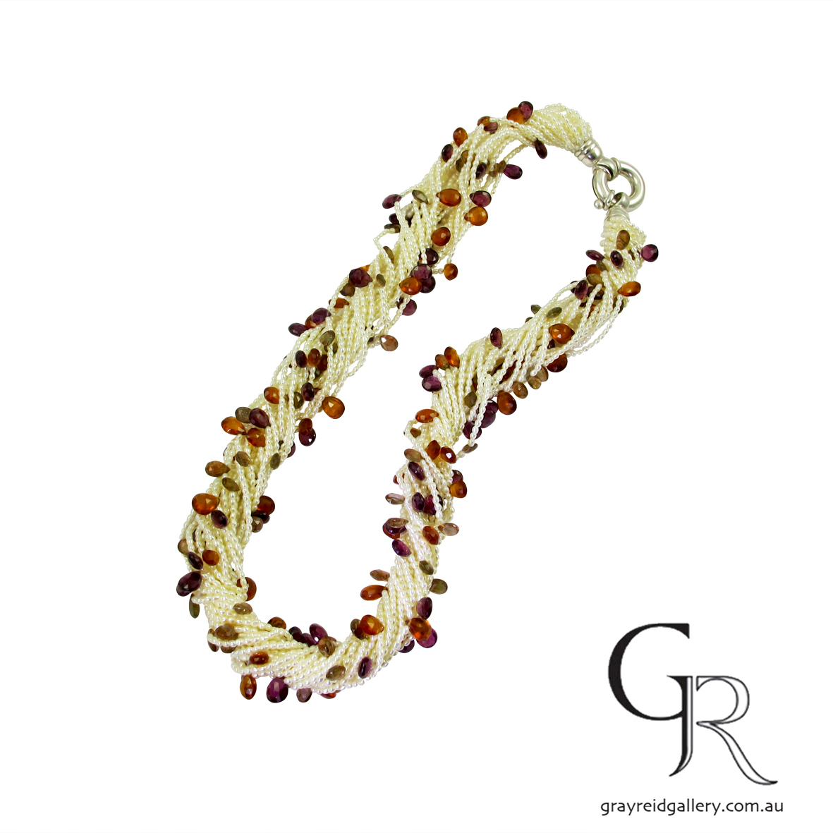 pearl and gemstone beads necklace Gray Reid Gallery Melbounre 21.jpg
