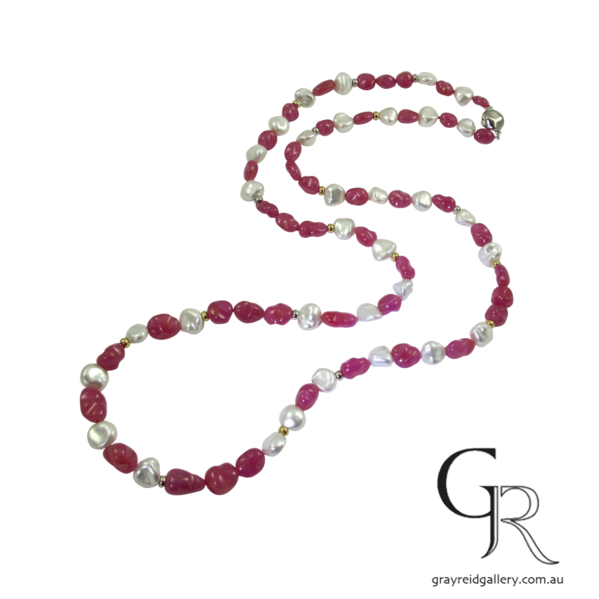 Bespoke necklace ruby Beads and pearls Reid Gallery Melbourne Bespoke necklace Beads and pearls Reid Gallery Melbourne Gray Reid Gallery Melbourne 2017-05-23 16.42.25.jpg