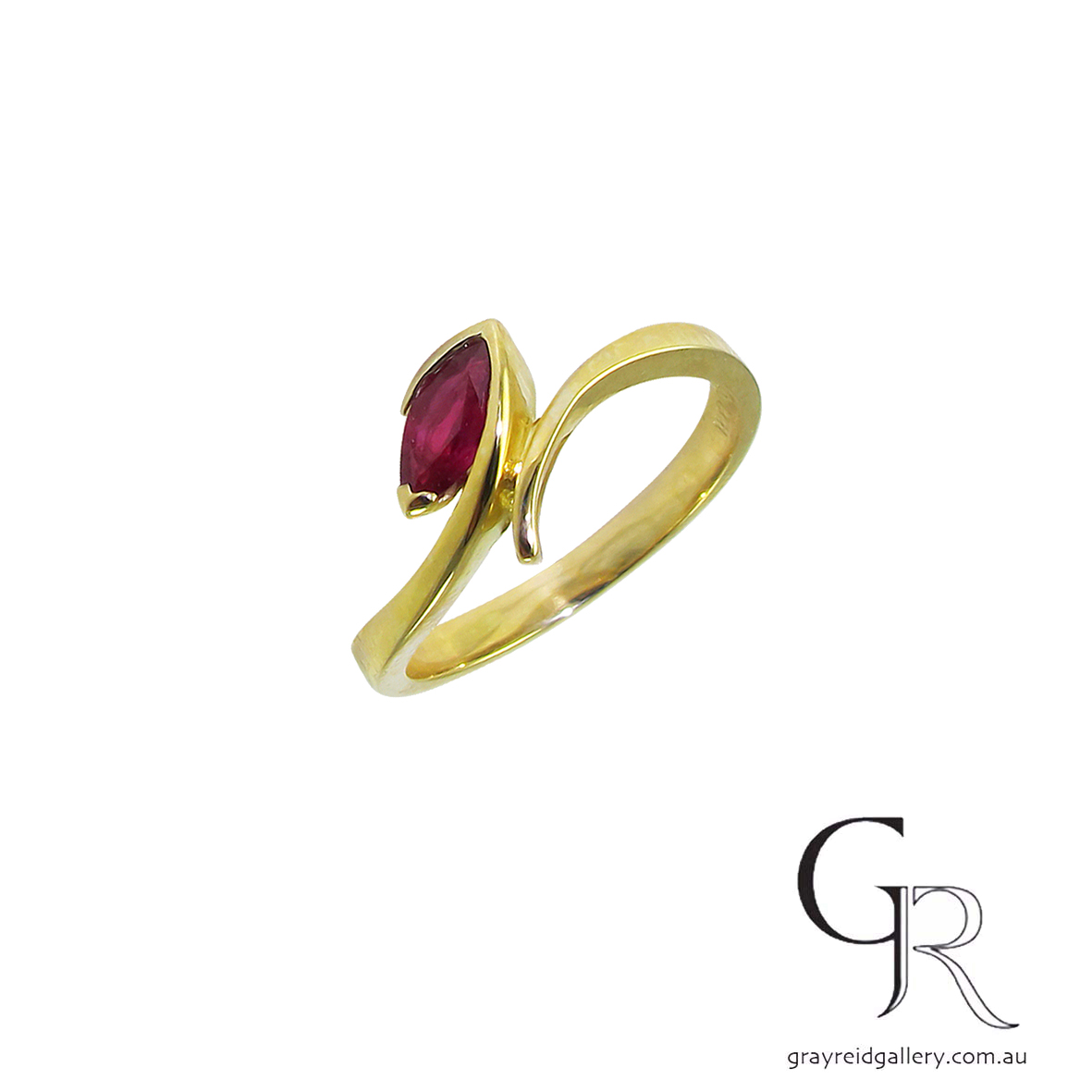 Marquise Cut Ruby Ring