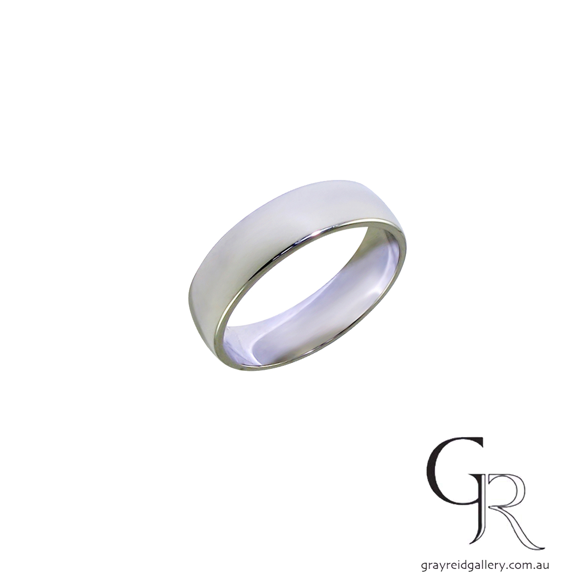 Gents 18ct White Gold Wedding Band