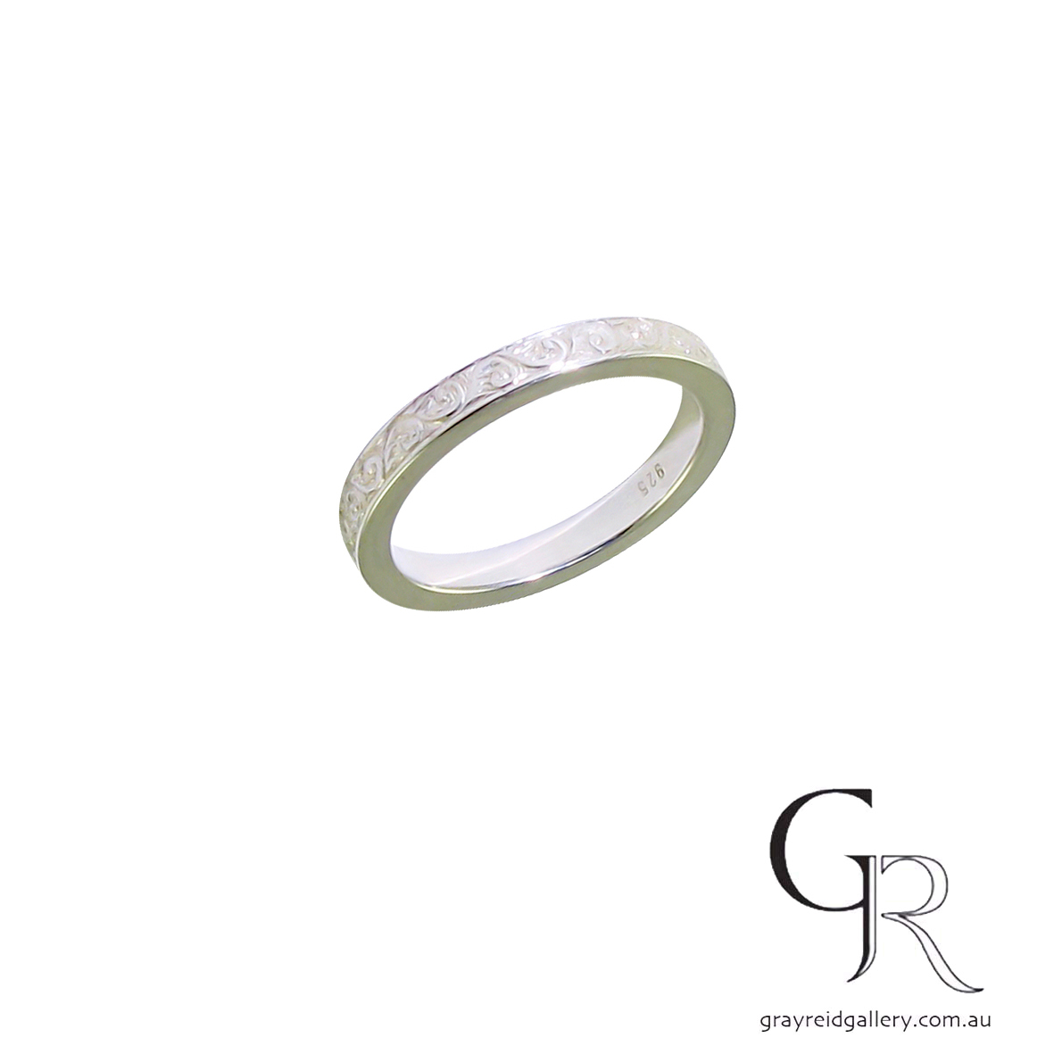 Wedding bands Melbourne mens jewellery Gray Reid Gallery platinum white gold gents ring 11.38.03.jpg