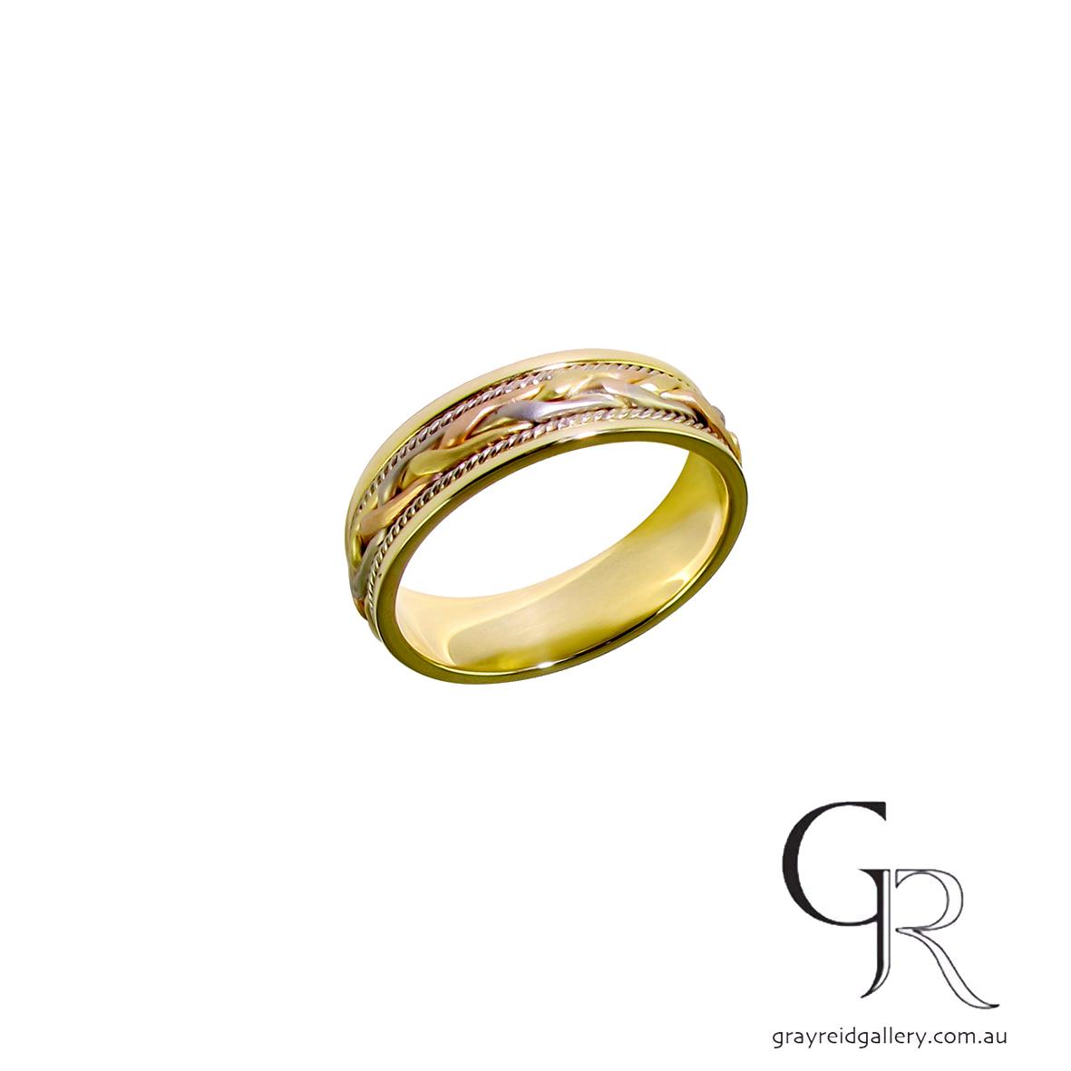 Wedding bands Melbourne mens jewellery Gray Reid Gallery yellow gold gents ring 15.56.16.jpg