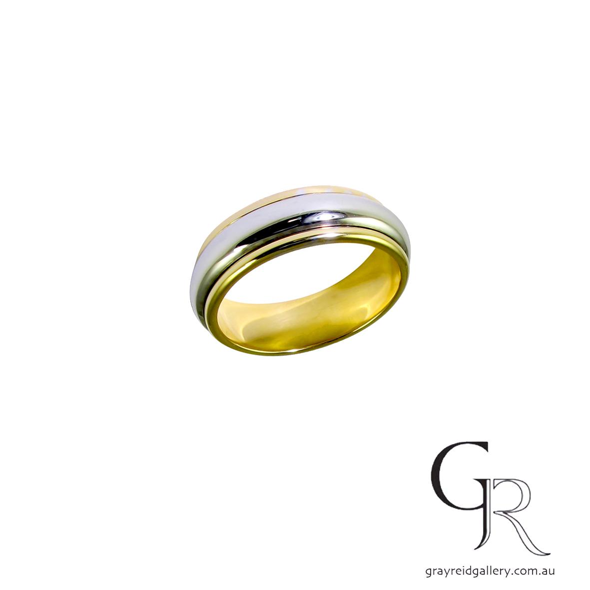 Wedding bands Melbourne mens jewellery Gray Reid Gallery yellow gold gents ring 16.00.09.jpg