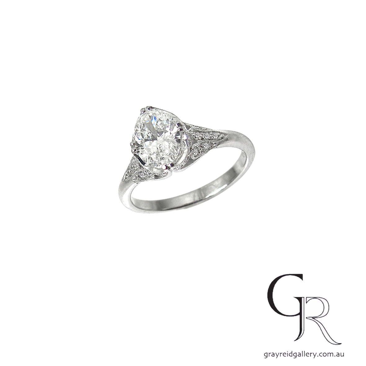 Custom made oval diamond Engagement Ring Melbourne Gray Reid Gallery.jpg