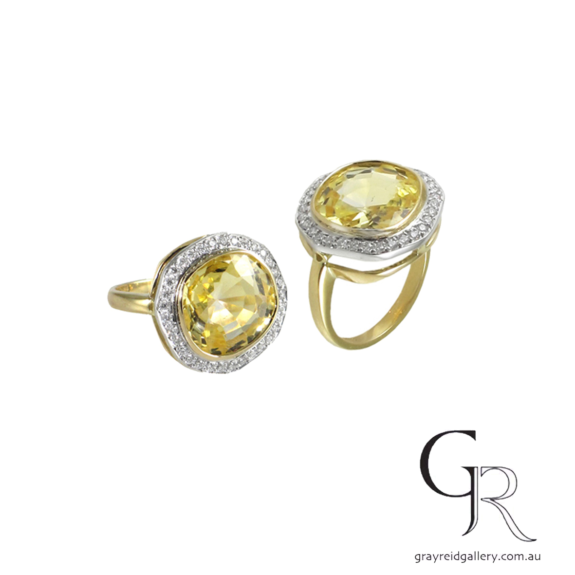 Diamond _ Yellow Sapphire Ring Melbourne Gray Raid Gallery Photo.jpg