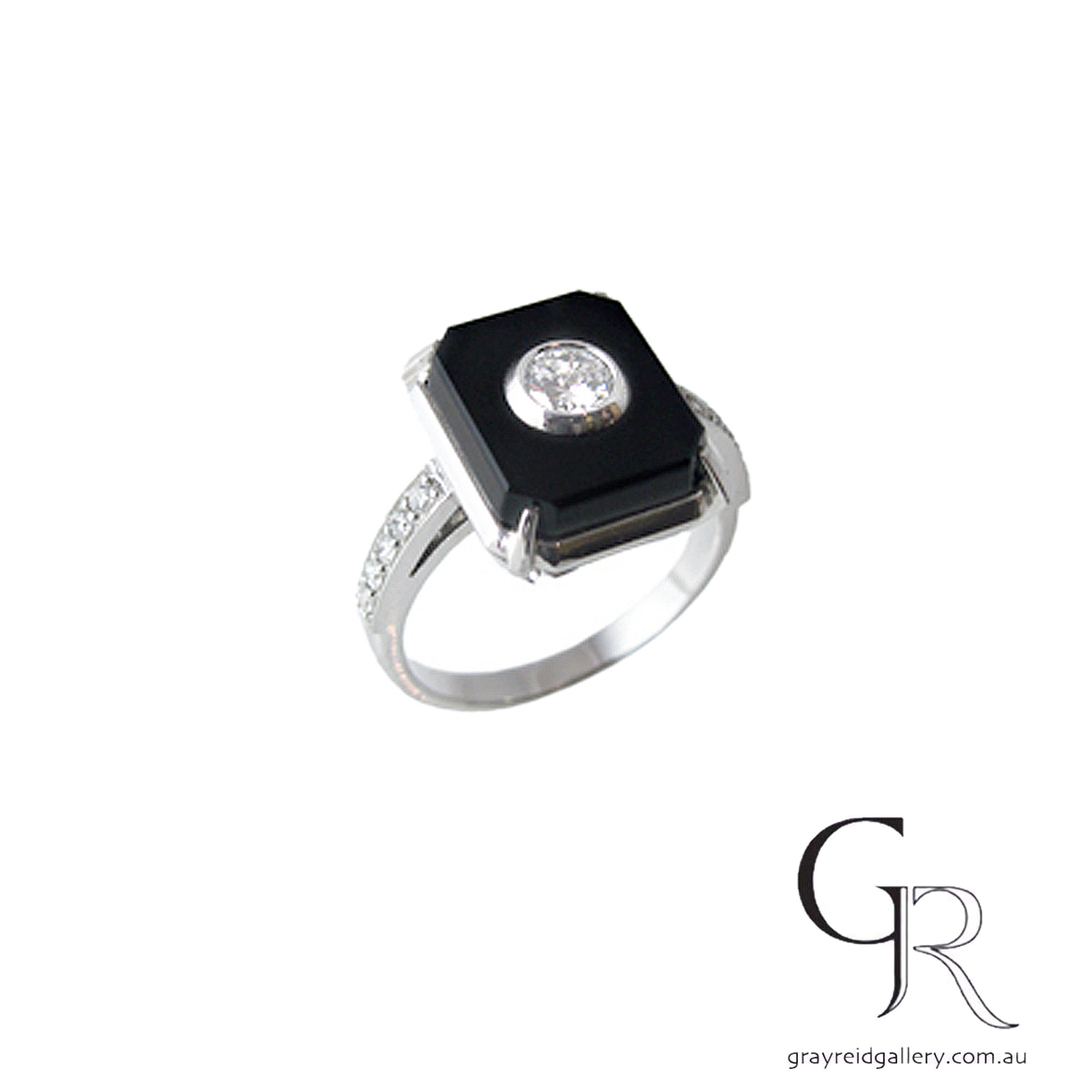 Diamond & Onyx Rings Melbourne Gray Reid Gallery.jpg