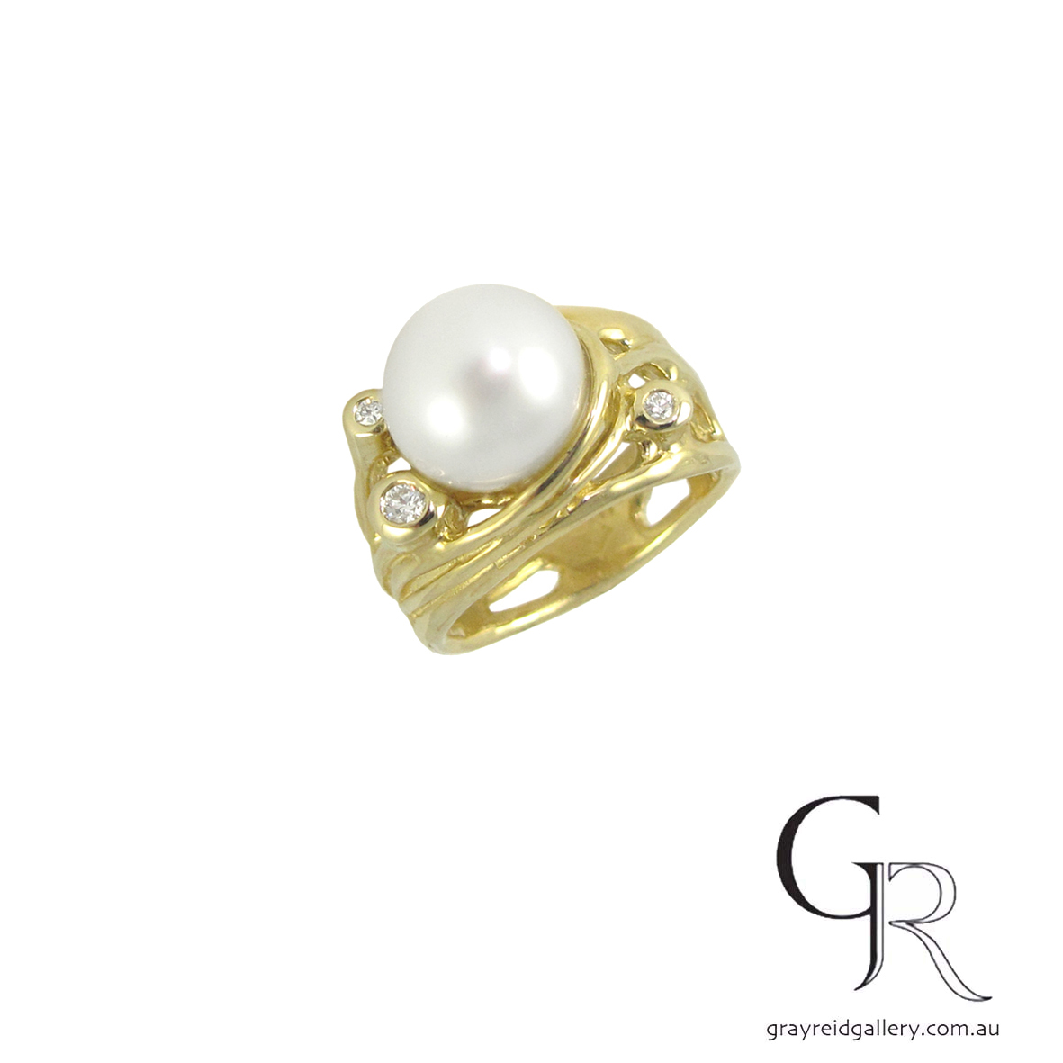 Diamond & Pearl Ring by Darylle Kelly at Gray Reid Gallery.JPG