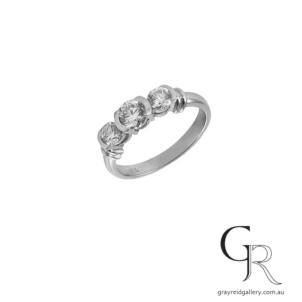 diamond 3 stone engagement ring melbourne front.jpg