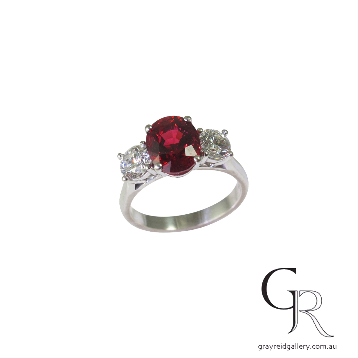 Spinel and diamond engagement ring melbourne gray reid gallery.JPG