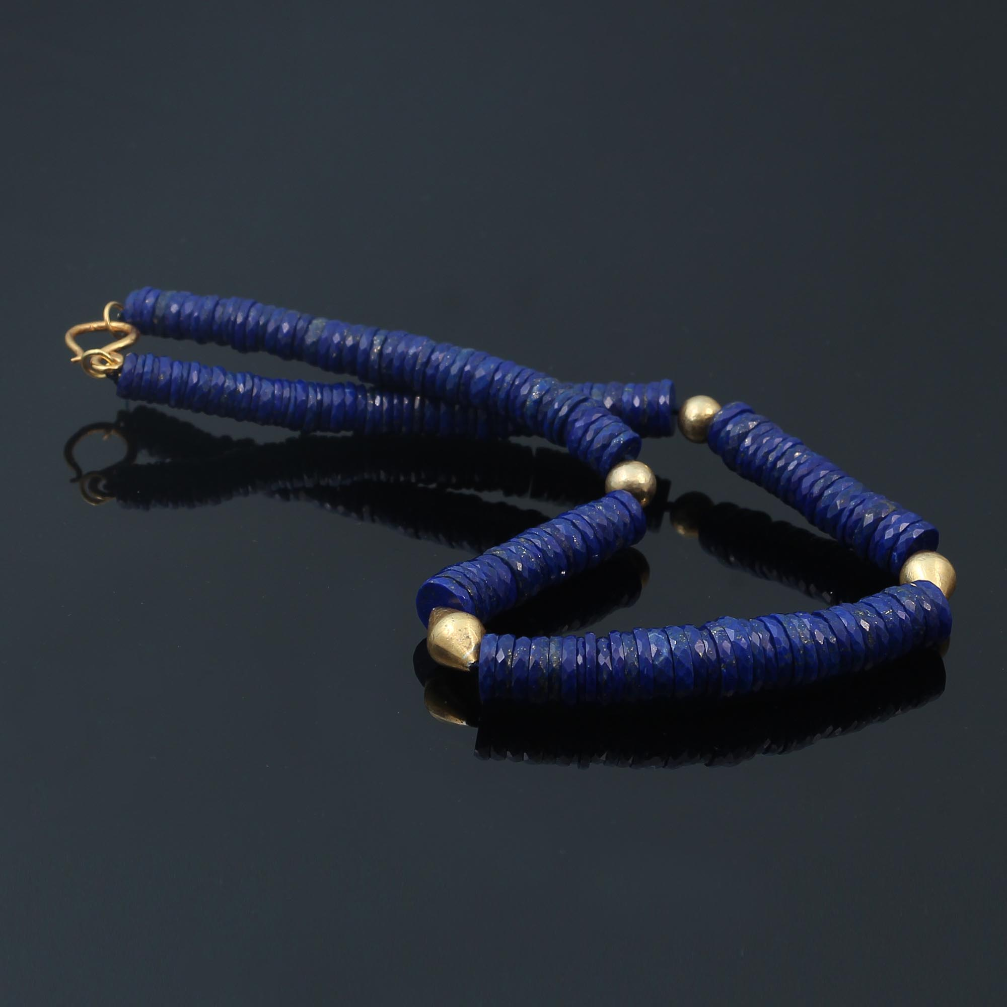egyptian revival natural Lapis Lazuli necklace by contemporary jeweller Alexander Wilson 3.JPG