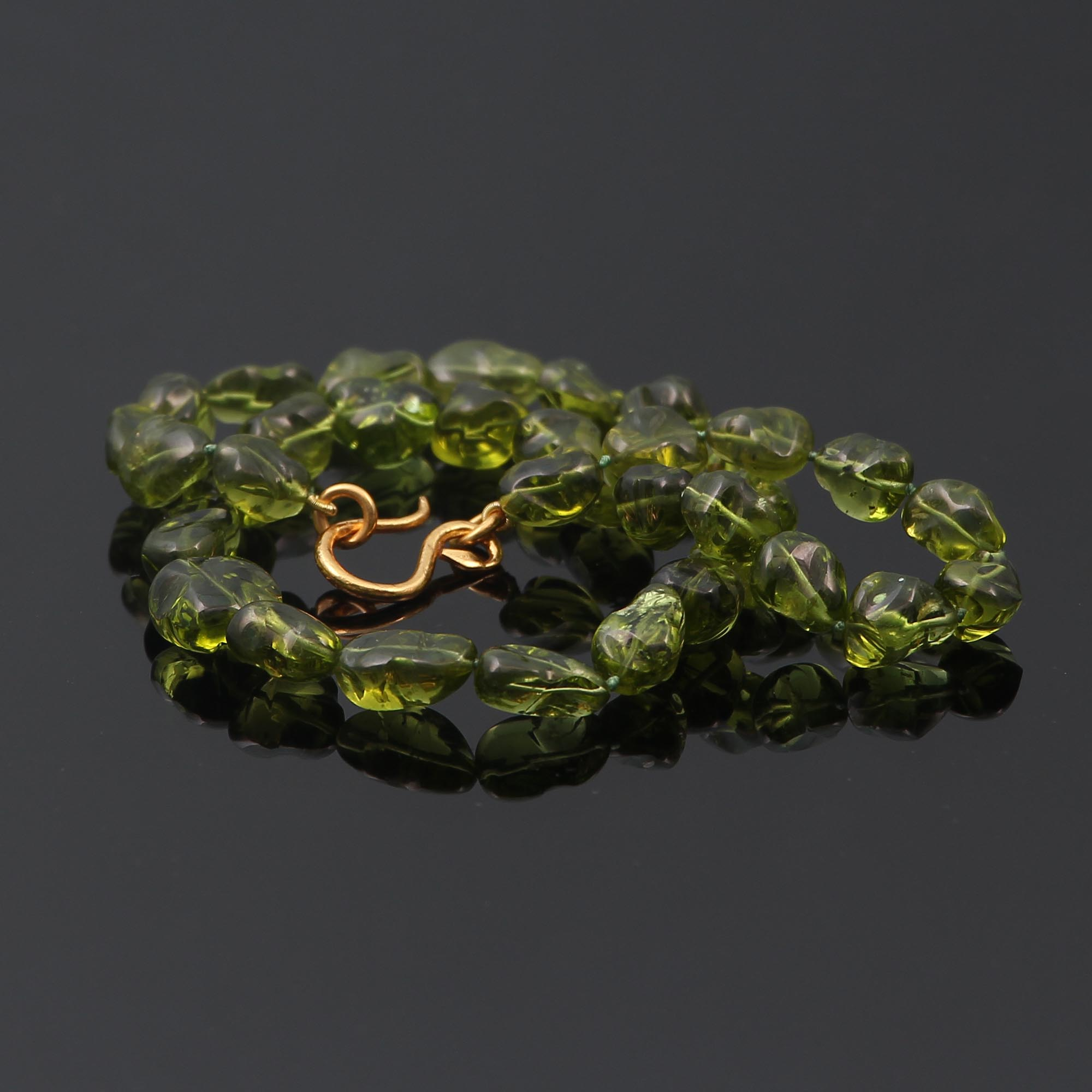 unique peridot nugget bead necklace by melbourne jeweller Alexander Wilson 4.JPG