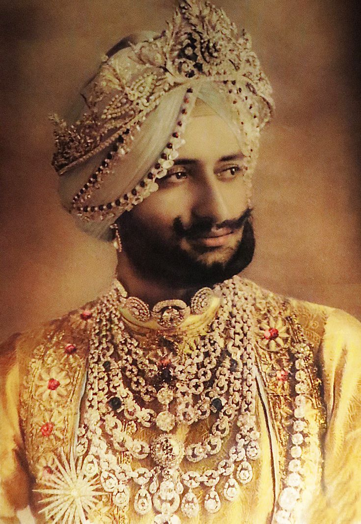 Bhupinder Singh - the Maharaja of Patiala (photo credit Cartier Archive)