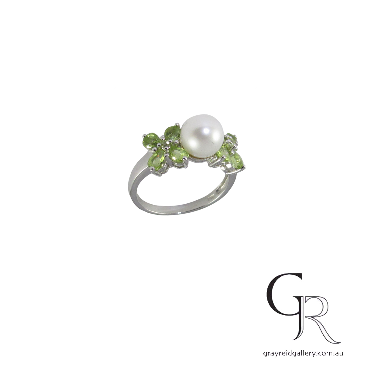 custom made peridot 9ct gold pearl ring 5546 B $580.jpg