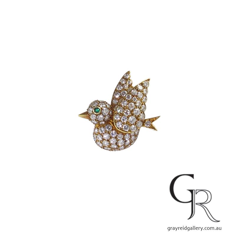 Vintage Van Cleef & Arpels Diamond Brooch