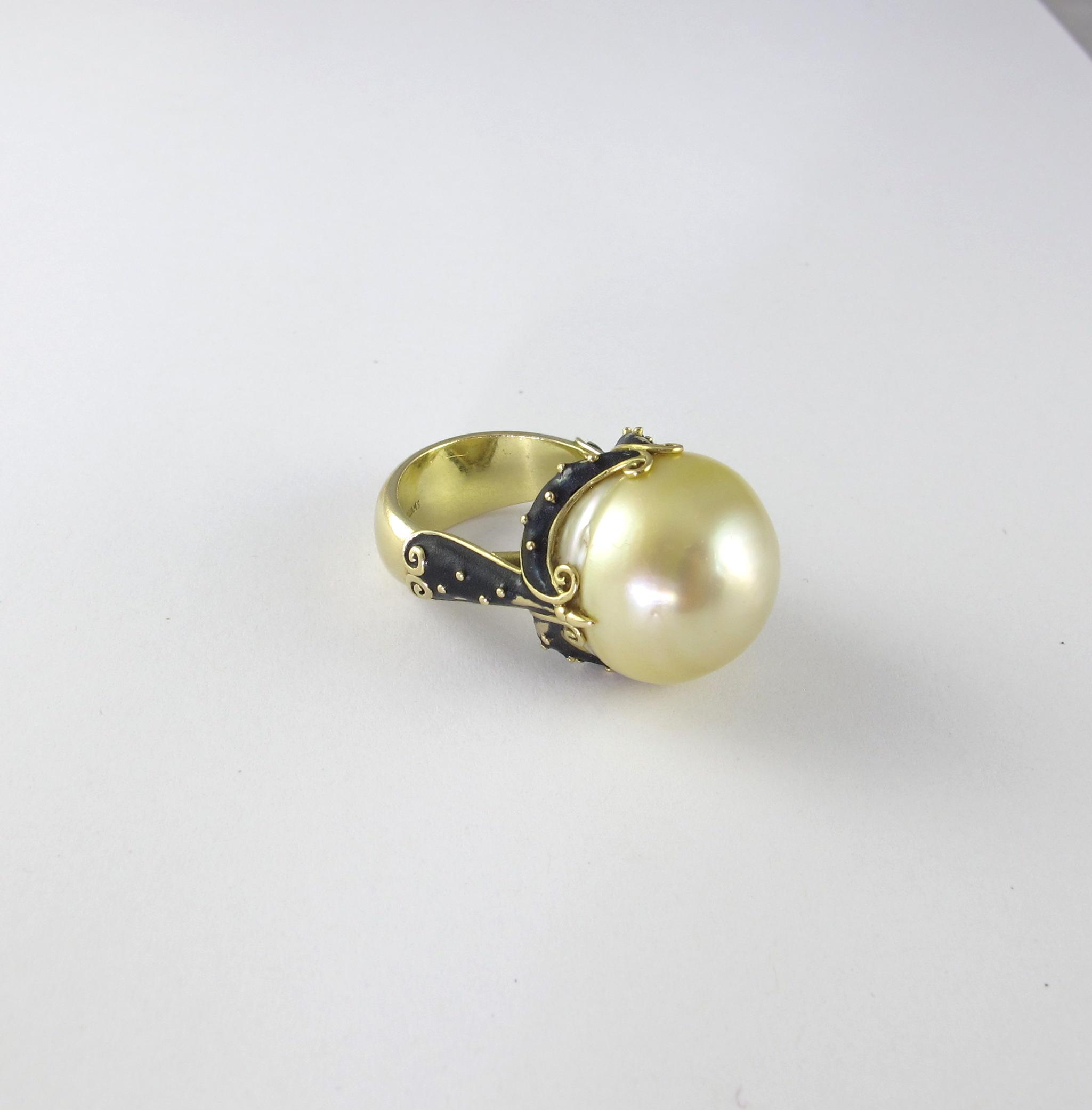 Pearl Ring by Sonya Kelly