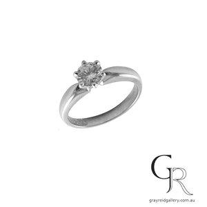 Classic White Gold Diamond Set Solitaire
