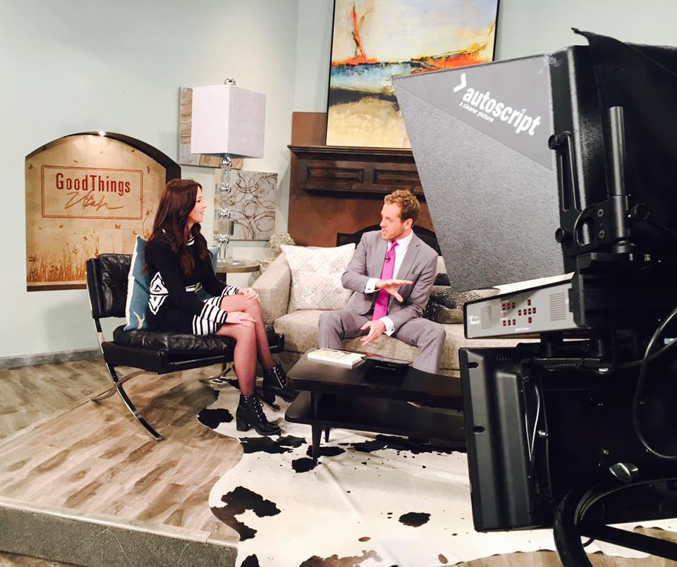 Shannon discusses her book on Good Morning Utah. -