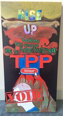 New painting by founding member Pikihuia Haenga-Carkeek.