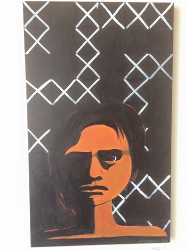 Original painting by Robyn Kahukiwa at Toi Wāhine HQ.