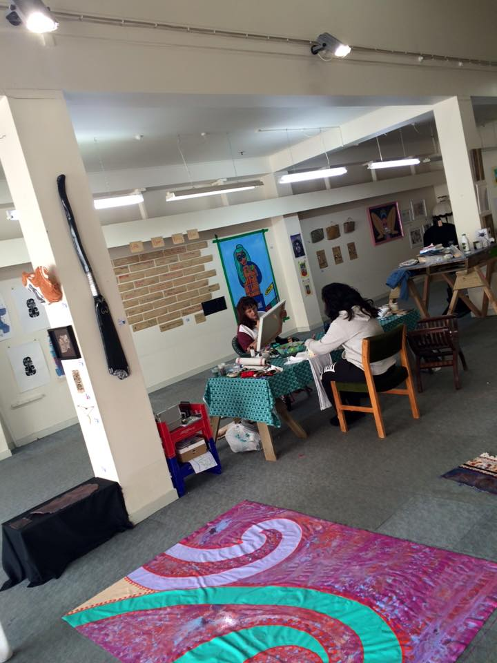 Our most recent art making waananga in the space.