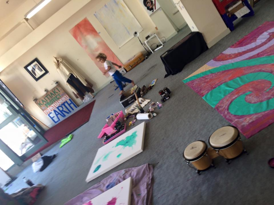 Our most recent art making waananga at the space.
