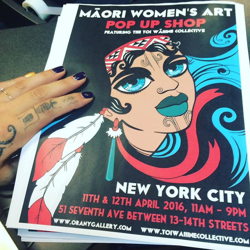 Our Toi Wāhine Collective two day pop up shop at Ora Ny Gallery was off the hook!
