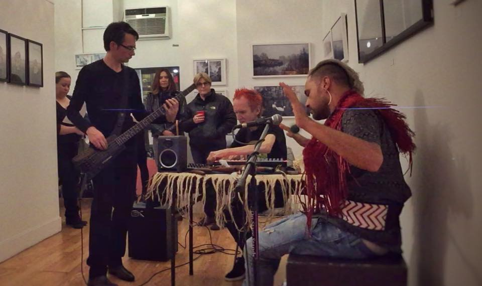 Very grateful to New Zealand musicians Andrew White, Paddy Free of Pitch Black and Jerome Kavanagh for performing live in the gallery on both evenings at our pop up shop.