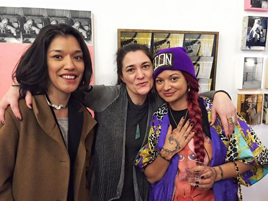 With new friends Keke and Giarna Te Kanawa, gallerist of Ora Ny Gallery.