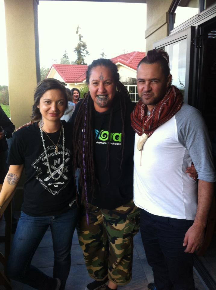 With Benita Tahuri and my partner Jerome Kavanagh.