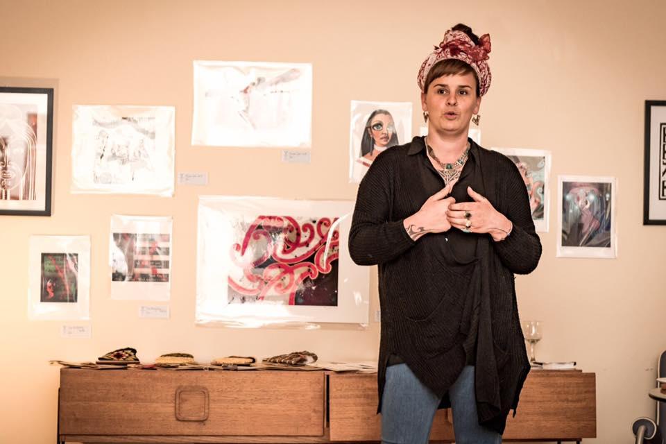 Sian Montgomery-Neutze giving her artist talk.