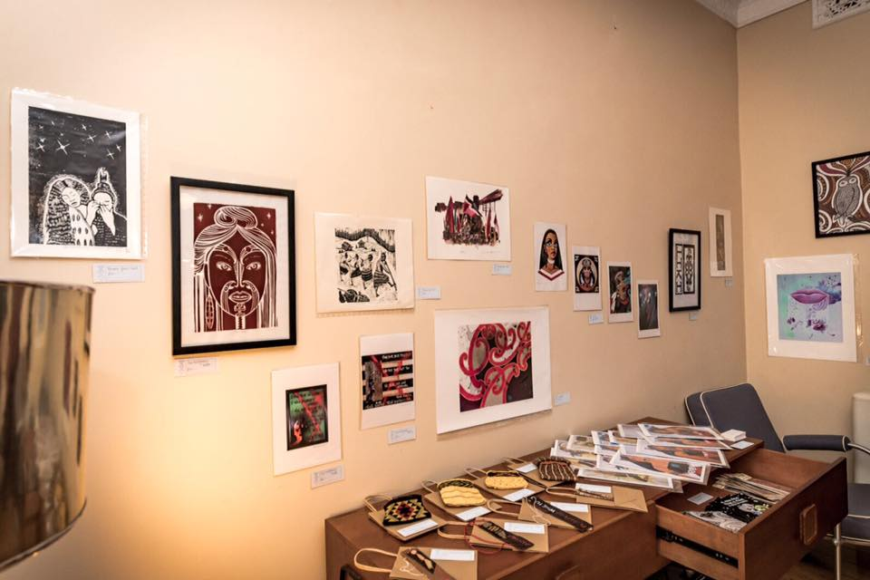 Some of the artwork that was for sale on the night.