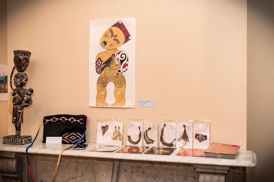 Some of the contemporary Māori art collection that was available at the special event.