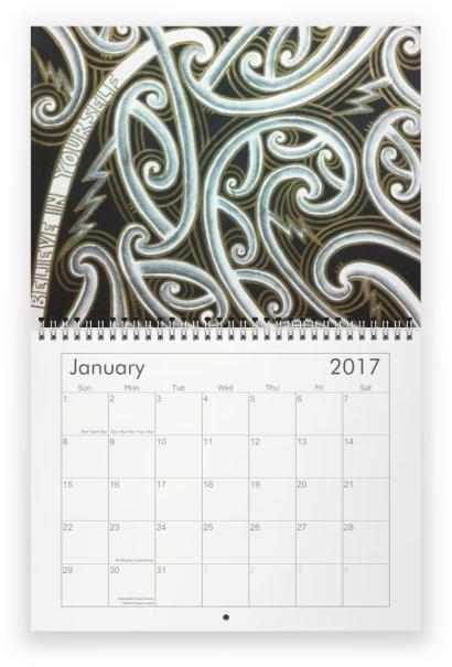 2017 maori art calendar taryn beri
