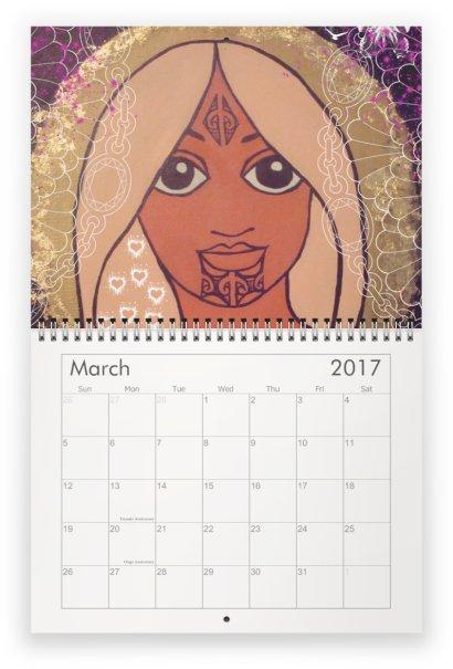 taryn beri 2017 maori art calendar