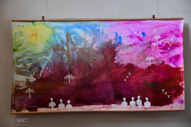 'The people of the rainbow gather'. SOLD.