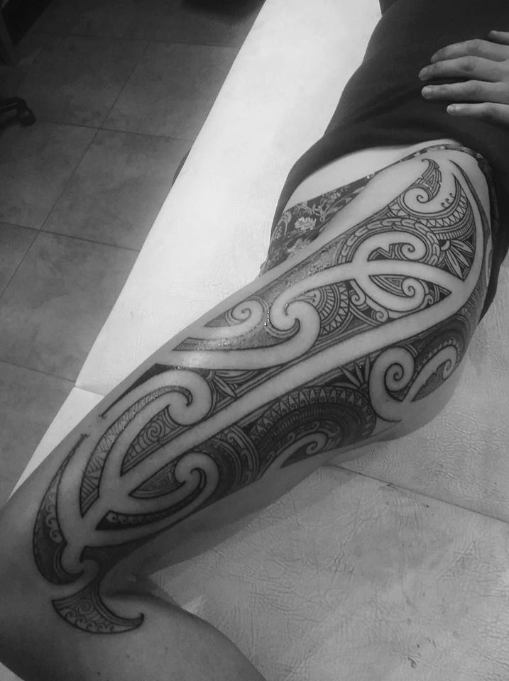taryn beri wahine mau mono peha puhoro woman maori tattoo