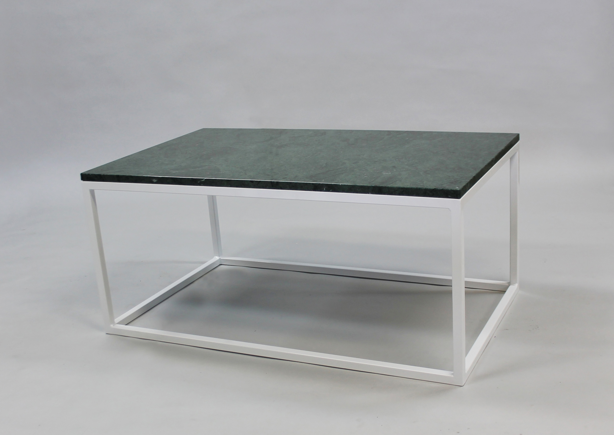 Marmorbord  GRÖN 100x60 H 45, vitt kub underrede