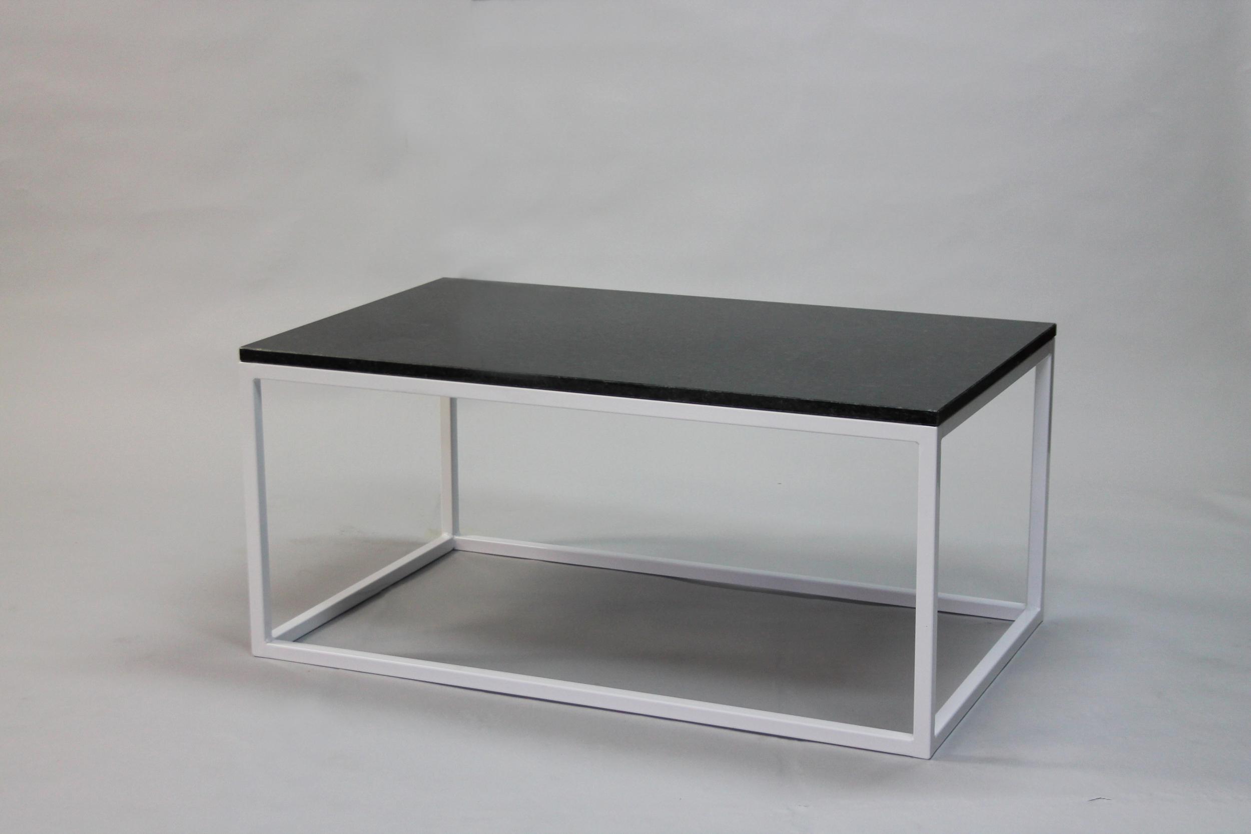 Granitbord - 100x60 x  45  cm, vitt underrede kub   SLUT!