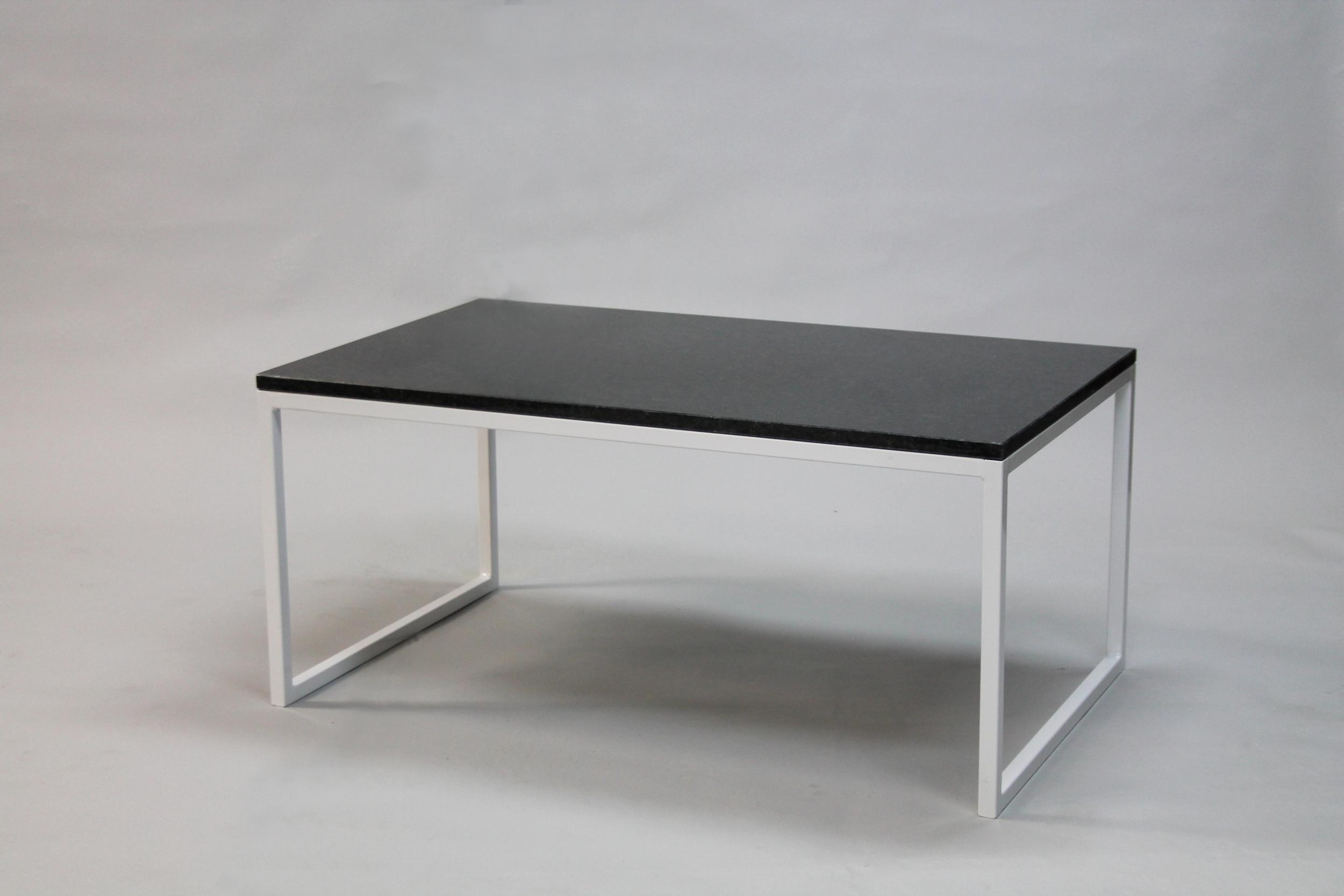 Granitbord - 120x60 x  45  cm, vitt underrede halvkub   SLUT!