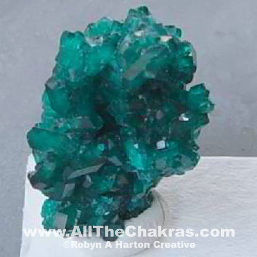 Dioptase is a Heart Chakra stone.